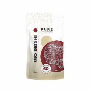 Pure Mushrooms Reishi - Paddenstoelen Extract - 60 vegicaps - BIO