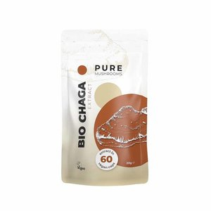 Pure Mushrooms Chaga - Paddenstoelen Extract - 60 vegicaps - BIO