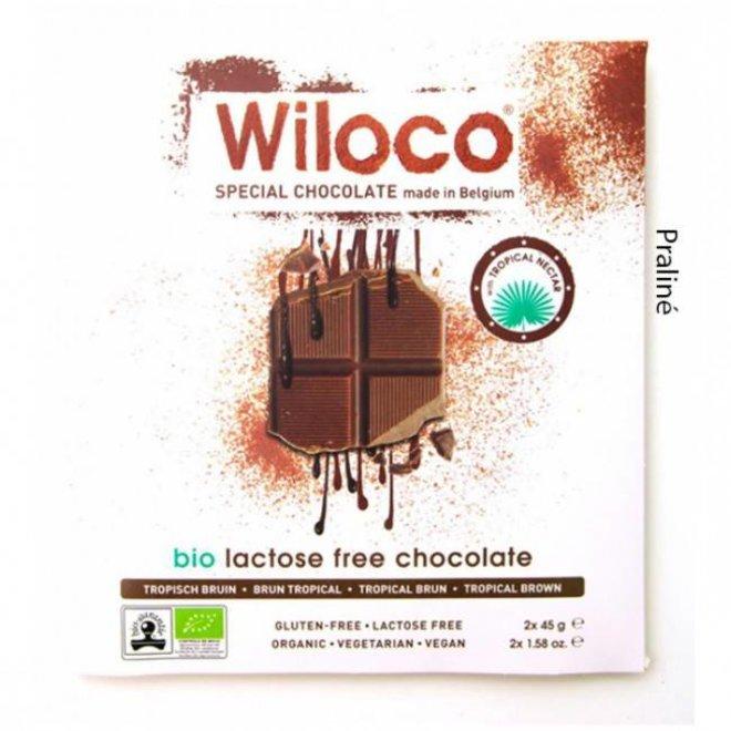 Lactosevrije Chocoladereep 'Melk' met Praline - 90g - BIO