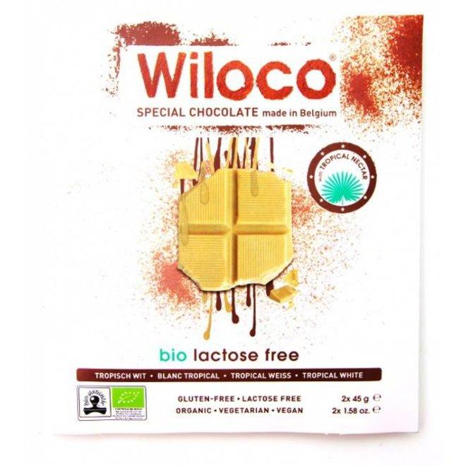 Lactosevrije Chocoladereep 'Wit' - 90g - BIO