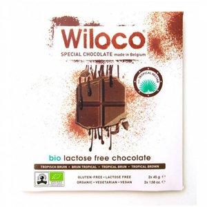 Wiloco Lactosevrije Chocoladereep  'Melk' - 90g - BIO