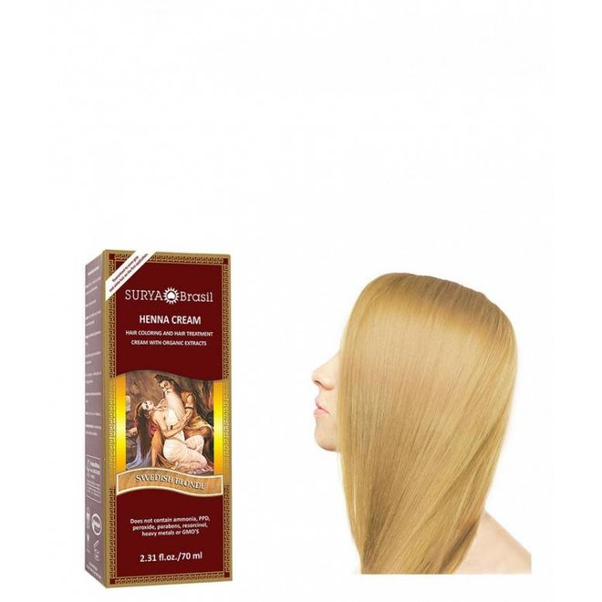 Haarkleuring Henna Cream - Swedish Blonde