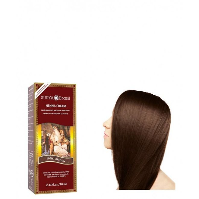 Haarkleuring Henna Cream - Light Brown