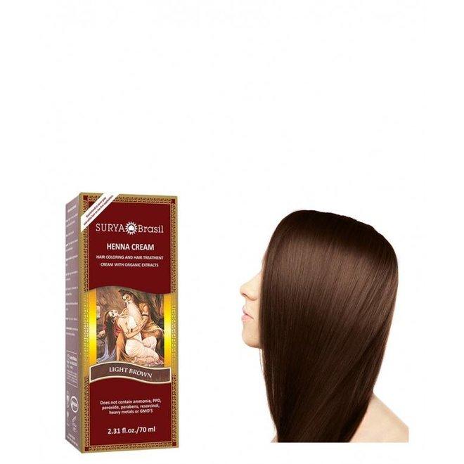 Haarkleuring Henna Cream - Light Brown