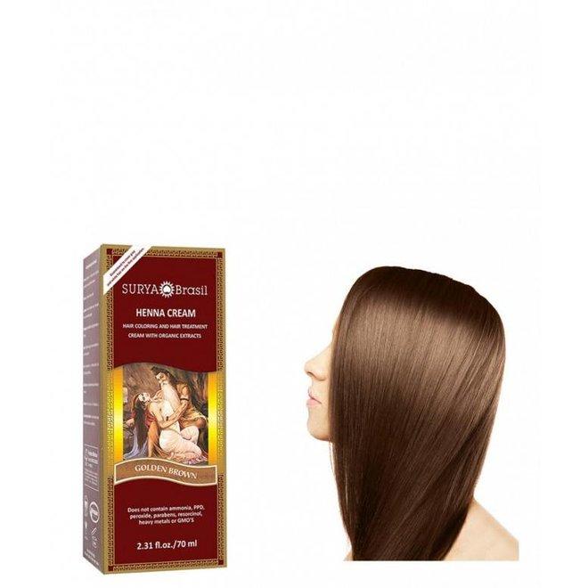 Haarkleuring Henna Cream - Golden Brown