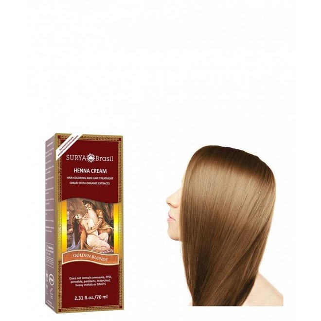 Haarkleuring Henna Cream - Golden Blonde