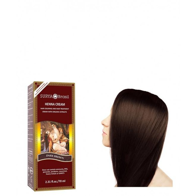 Haarkleuring Henna Cream - Dark Brown