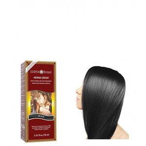 Surya Brasil Haarkleuring Henna Cream - Black