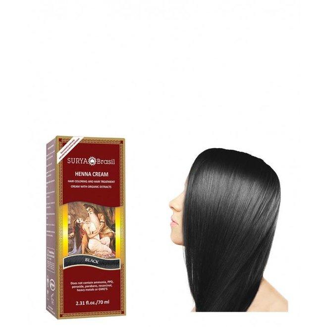 Haarkleuring Henna Cream - Black