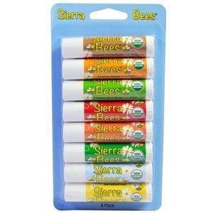 Sierra Bees Lippenbalsems bijenwas - 8 pack