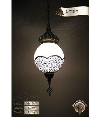 Hanging lamp bulb brass