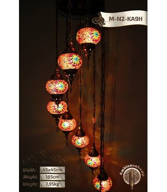 Kroonluchter mozaik 9 lampen