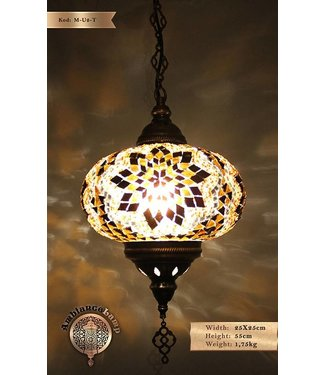 Hanging lamp oval mosaic