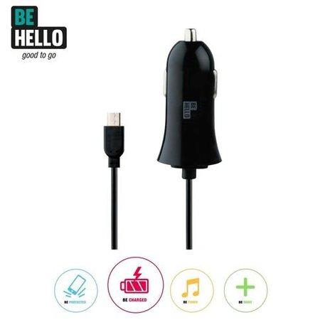 BeHello BeHello Micro USB Autolader Zwart (1000mAh)