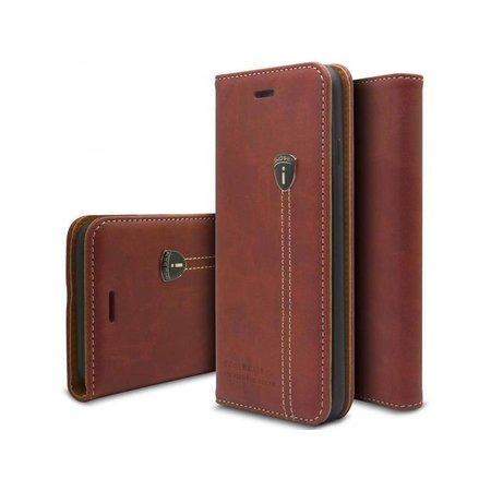 iHosen iHosen Leather Book Case Bordeaux Rood voor de iPhone X / Xs