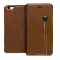 iHosen Leather Book Case Bruin voor de iPhone X