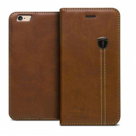 iHosen iHosen Leather Book Case Bruin voor de iPhone X