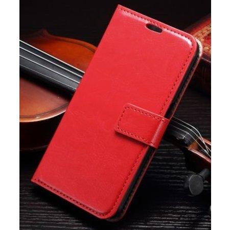 Rood luxe flip case Samsung Galaxy S7