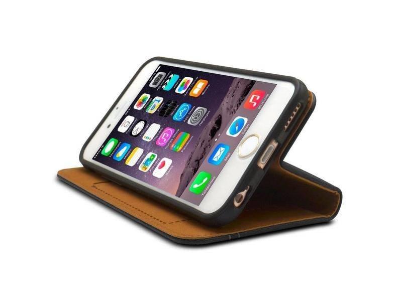 iHosen iHosen Leren Book Case iPhone 6 Plus/6S Plus Bordeaux Rood