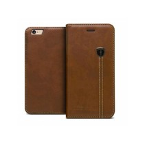 iHosen Leren Book Case iPhone 6 Plus/6S Plus Bruin