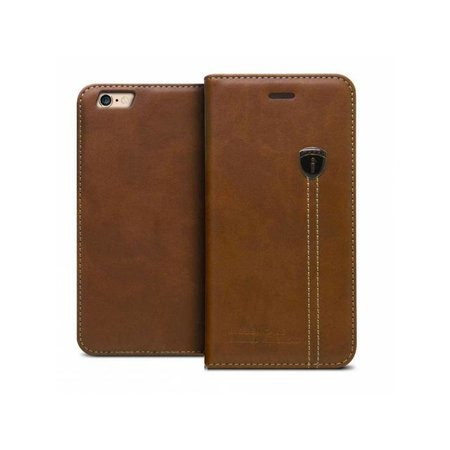 iHosen iHosen Leren Book Case iPhone 6 Plus/6S Plus Bruin