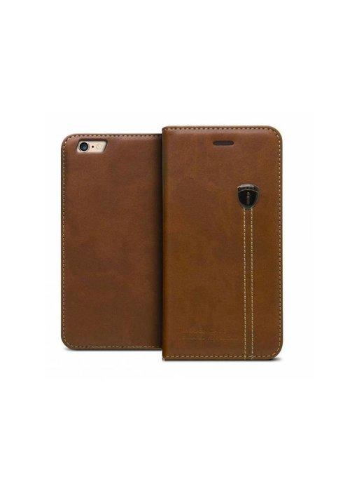 iHosen Leren Book Case iPhone 6 Plus/6S Plus Bruin