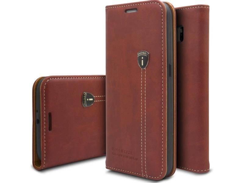 iHosen iHosen Leren Hoesje Samsung Galaxy Note 8 Bordeaux Rood