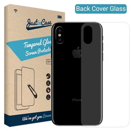 Just in Case Just in Case Back Cover Tempered Glass iPhone X