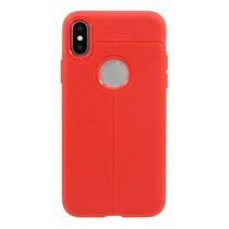 Just in Case Soft Design TPU iPhone X / Xs Case Rood