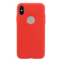 Just in Case Soft Design TPU iPhone X / Xs Case Rood