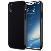 Just in Case iPhone X / Xs Soft TPU case - Zwart