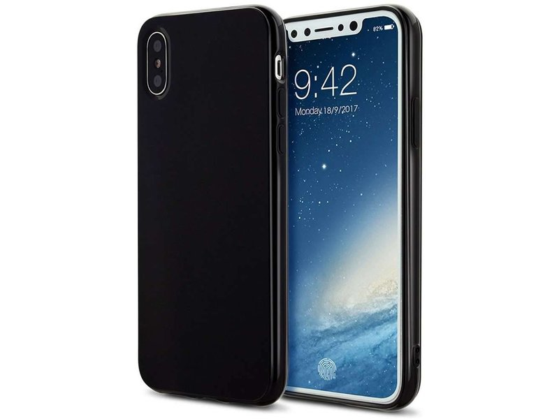 Just in Case Just in Case iPhone X / Xs Soft TPU case - Zwart