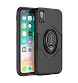 iPaky iPaky Hybrid Case iPhone X - Zwart