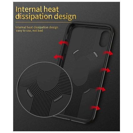 iPaky iPaky Hybrid Case iPhone X - Zwart