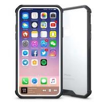 Just in Case iPhone X / Xs Premium case - Transparant / Zwart