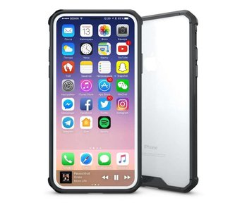 Just in Case iPhone X / Xs Premium case - Transparant / Zwart