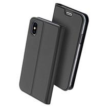 DUX DUCIS iPhone X / Xs Wallet Case Slimline - Grijs