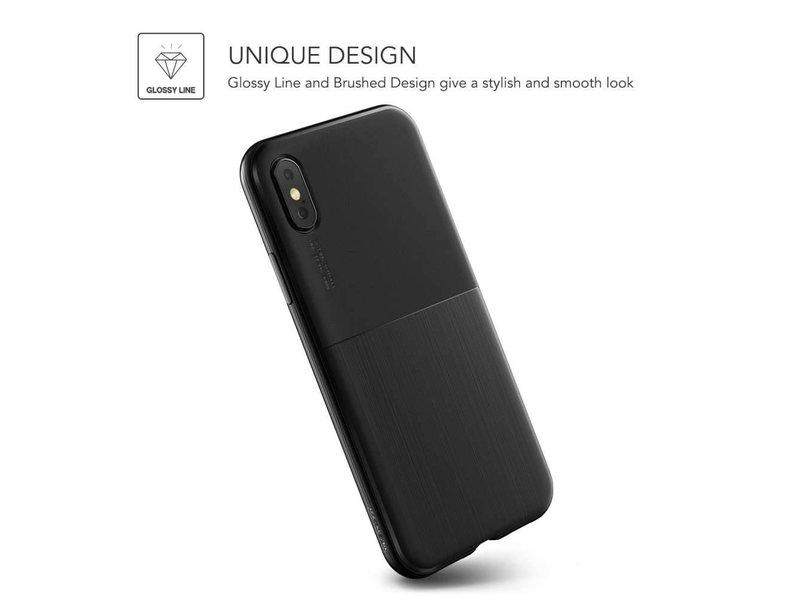 VRS Design VRS Design Single Fit Series iPhone X - Zwart