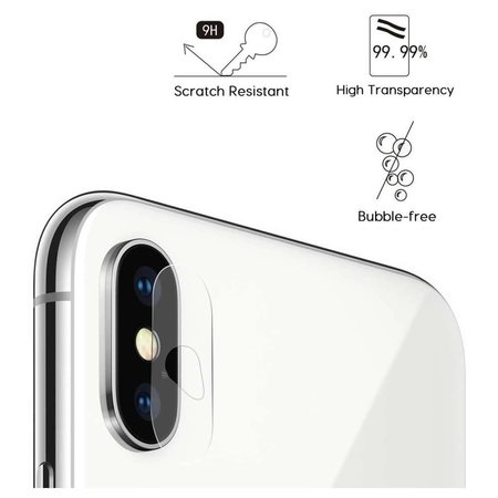 Just in Case Just in Case Tempered Glass iPhone X Camera Lens - 2 Pcs