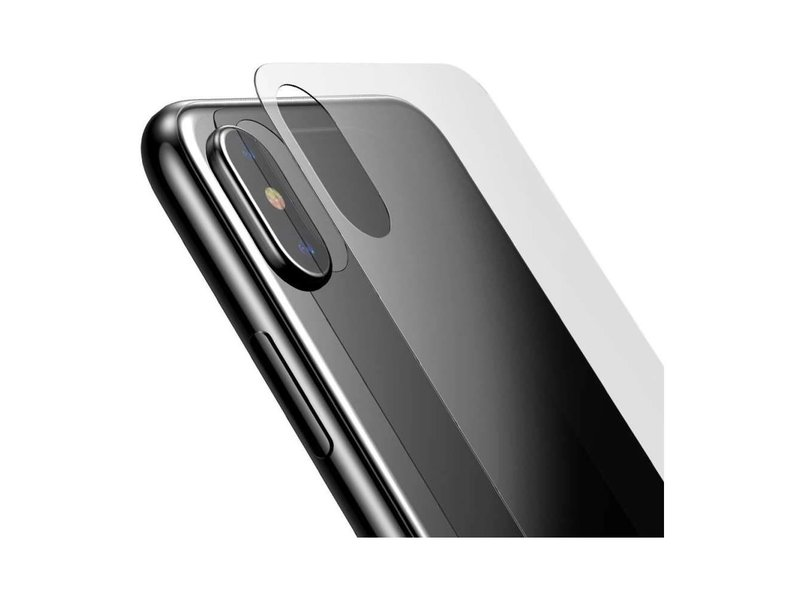 Baseus Baseus Back Cover Tempered Glass iPhone X (0.3mm)