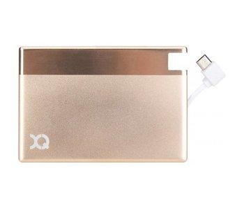 XQISIT Powerbank met Micro USB (1350 mAh) - Goud