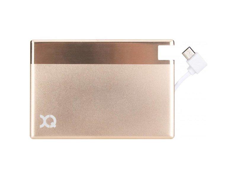 XQISIT XQISIT Powerbank met Micro USB (1350 mAh) - Goud
