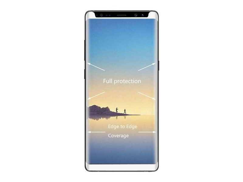 Just in Case Just in Case Full Cover Tempered Glass Samsung Galaxy Note 8 (White)