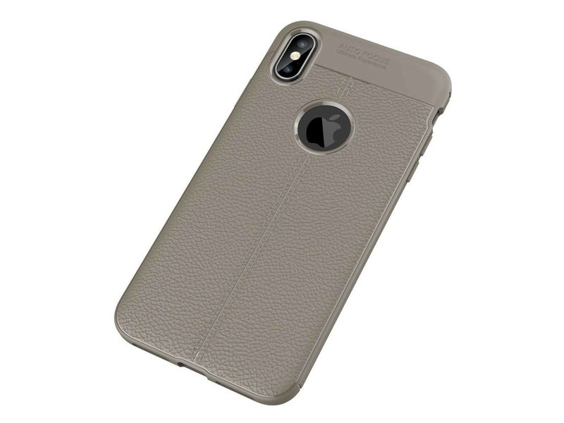 Just in Case  Just in Case Soft Design TPU Apple iPhone Xs Max Case (Grijs)