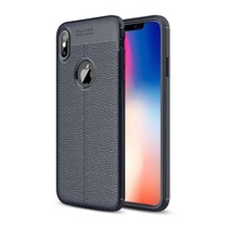 Just in Case Soft Design TPU Apple iPhone Xs Max Case (Blauw)