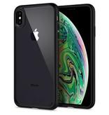 Spigen  Spigen Ultra Hybrid Case Apple iPhone Xs Max (Mat Zwart)