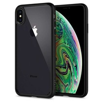 Spigen Ultra Hybrid Case Apple iPhone Xs Max (Mat Zwart)