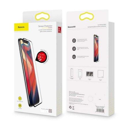Baseus Baseus Full Cover Tempered Glass Apple iPhone Xs Max - Zwart