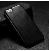Leren softcase iPhone 6(s) Plus - Zwart