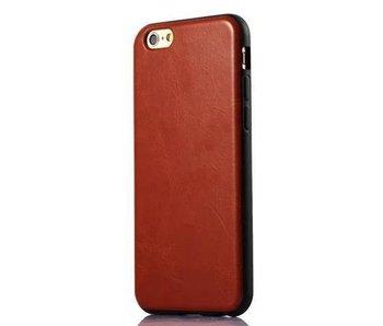 Leren softcase iPhone 6(s) Plus - Bruin
